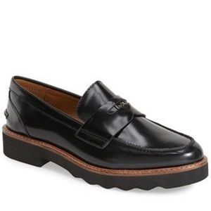 Coach Oxford Indie black leather loafers size 8B
